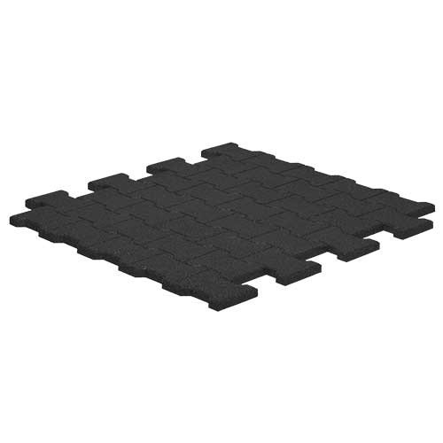 Paddockplatte Pflastersteinoptik schwarz
